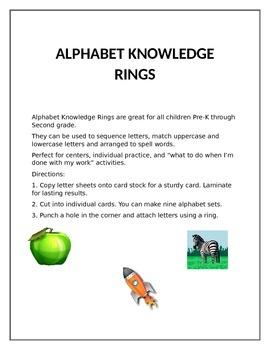 ALPHABET KNOWLEDGE RINGS
