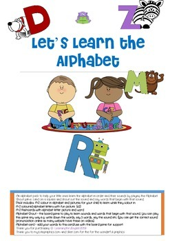 ALPHABET PACK - LETS LEARN THE ALPHABET - INCLUDES FUN BOA