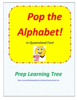 Queensland ALPHABET POPCORN GAME (in Queensland Font)