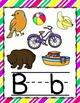 Diagonal Bright Colors Alphabet Posters