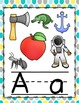 ALPHABET POSTERS: Dots Yellow, Gray, and Teal Alphabet Posters
