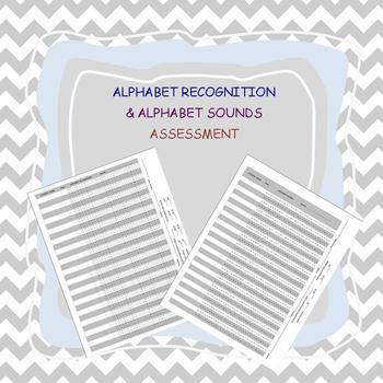 ALPHABET Recognition and Sounds Assessment PDF FREEBIE
