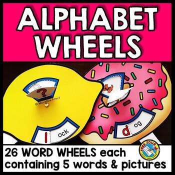 KINDERGARTEN LITERACY: ALPHABET WORD WHEELS: ALPHABET PICT