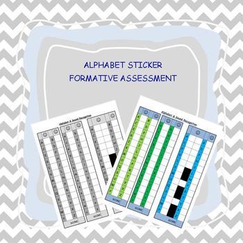 ALPHABET RECOGNITION Formative assessment sticker chart