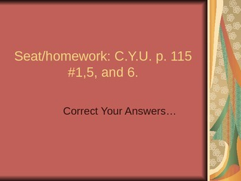ALesson 05 CYU p. 115 answers