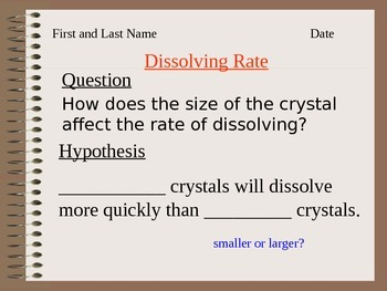 ALesson 12 Dissolving Rate Answers