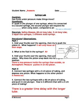 ALesson 13 Syringe Lab Compressing Fluids Answers