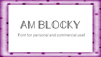 AM Blocky Font - Commercial Use