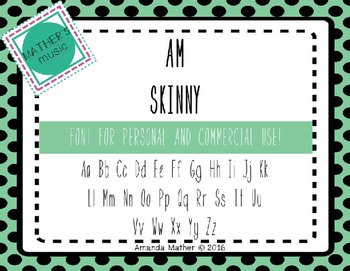 AM Skinny Font - Commercial Use
