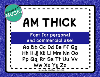 AM Thick Font - Commercial Use