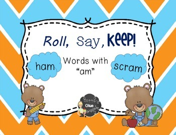 """-Am"" Word Family Games [Roll, Say, Keep]"