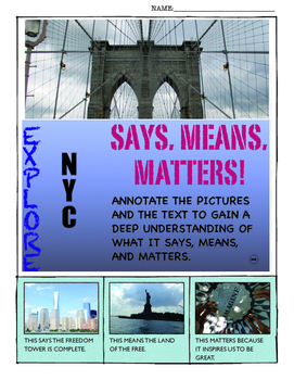 ANALYZE INFORMATIONAL TEXT (SAYS, MEANS, MATTERS) EXPLORE
