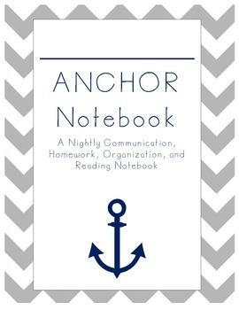 ANCHOR Notebook Cover Nautical Theme