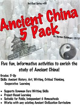 ANCIENT CHINA 5-PACK LESSONS. FUN ART, WRITING, PROJECT-BA