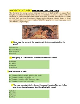ANCIENT CULTURES for 4th Grade