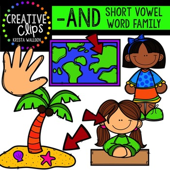AND Short A Word Family {Creative Clips Digital Clipart}
