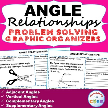 ANGLE RELATIONSHIPS Word Problems with Graphic Organizers