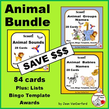 ANIMAL BUNDLE = Animal Babies, Animal Sounds, Animal Group