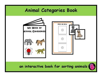 ANIMAL CATEGORIES ADAPTED Velcro BOOK, Speech Therapy, Aut