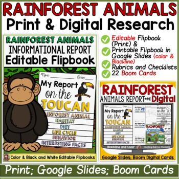 ANIMAL REPORT: RAINFOREST ANIMALS: INFORMATIVE WRITING