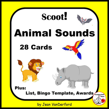 ANIMALS SOUNDS   47 Animals   Fluency and Fun   28 Task Ca