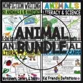 ALL ABOUT ANIMALS HABITATS FEATURES TASK CARDS and WORD WA