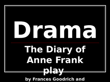 ANNE FRANK PLAY DRAMA AND TIMELINE POWERPOINT