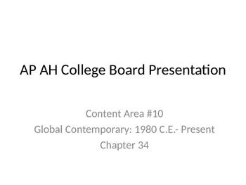 AP Art History Content 10- Global Contemporary Art (1980-P