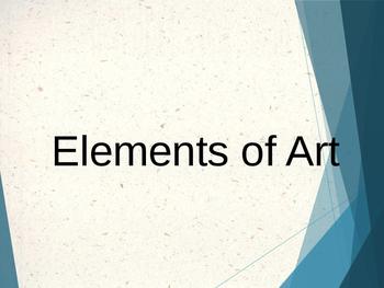 AP Art History Unit 1 Elements of Art PowerPoint