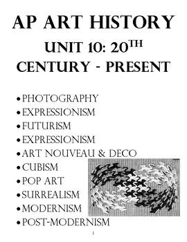 AP Art History Unit 9 20th Century Art & AP Review