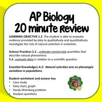 AP Biolog Worksheet:  Learning Objective 1.2, Peppered Moths