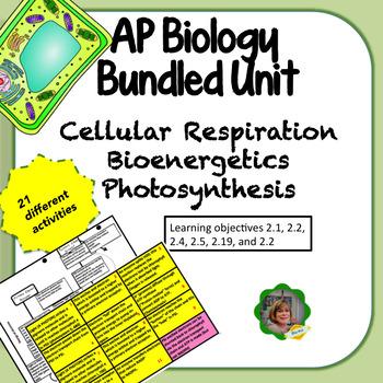 AP Biology Bundled Unit: Cellular Respiration, Bioenergeti