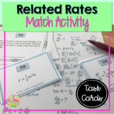 Calculus Related Rates Sort & Match Activity