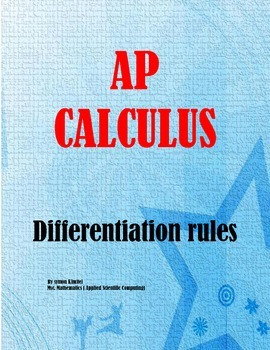 AP Calculus - COMMON FORMULAS FOR DERIVATIVES