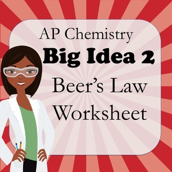 AP Chemistry Big Idea 1 Worksheet: Beer's Law (Beer-Lambert Law)