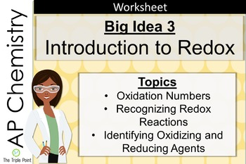 AP Chemistry Big Idea 3 Worksheet: Introduction to Redox R