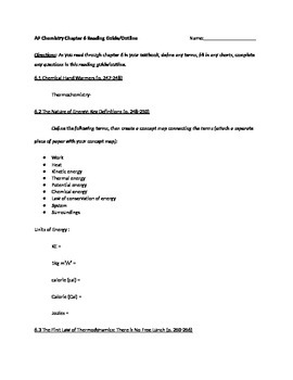 AP Chemistry, Chapter 6 Reading Guide for Tro, A Molecular