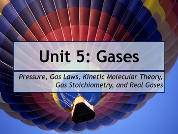 AP Chemistry Power Point and Unit Test: Gases
