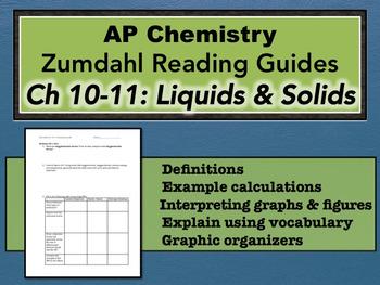 AP Chemistry Reading Guide Zumdahl Chapter 10-11 - Liquids