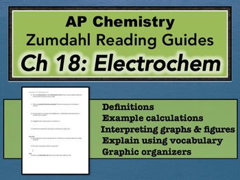 AP Chemistry Reading Guide Zumdahl Chapter 18 - Electrochemistry