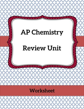 AP Chemistry Review Freebie