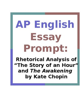 AP English Essay Prompt: Rhetorical Analysis of Story of a