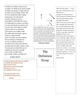 AP English Language & Composition - Definition Essay Resea