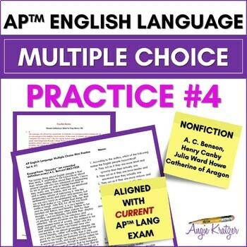 AP English Language Multiple Choice Mini Practice Set #4