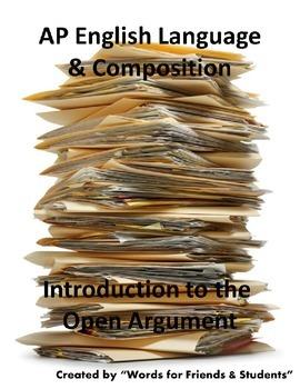 AP English Language open argument introduction