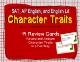 AP English, SAT Reading, English Literature: Character Tra
