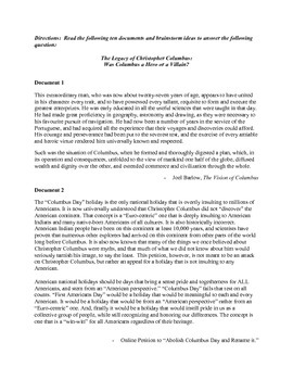 AP European History Period 1 The Legacy of Columbus Lesson