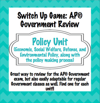 AP Government Policy Unit Review: Switch-Up Game