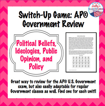 AP Government Switch Up Game: Political Participation and Parties