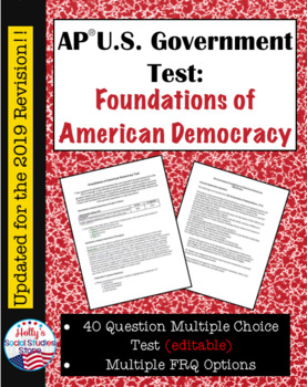 AP Government Test: Constitutional Underpinnings